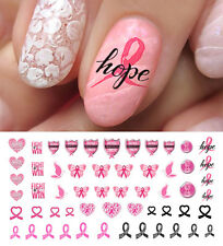 Breast Cancer Awareness Nail Art Waterslide Decals Set #4 - Salon Quality!