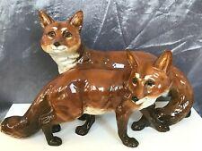 ART DECO HUTSCHENREUTHER FIGUR FUCHS-GRUPPE M.H. FRITZ fox porcelain figurine