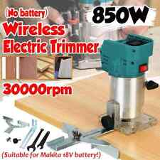 """850w 18v Wood Electric Trimmer 30000r/min 1/4"""" Collet Diameter no Battery"""