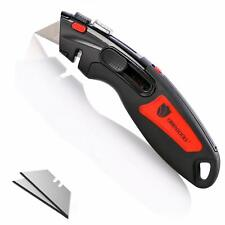 ORIENTOOLS Utility Knife Box Cutter Auto Retractable for Heavy Duty Office Home