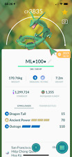 Pokemon Go Rayquaza level 40 - Maxed CP - unlock 3 moveset -  PvP Master - Trade