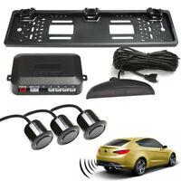 Universal Car Rear Number Plate Frame With 3 Reversing Parking Sensor System Kit