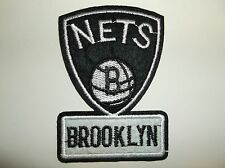 """Brooklyn Nets Embroidered Applique PATCH~2 5/8"""" x 3 1/2~Iron Sew~NBA~Ships FREE"""