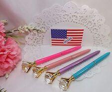 Ballpoint Pen Diamond Crystal Head 4 Pak-Hot Pink, Pink, Turquoise, Lavender