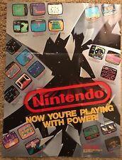 Nintendo NES Now You're Playing With Power 1988 Promo Poster / Insert