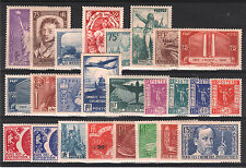 FRANCE ANNEE COMPLETE 1936 309 / 333 ,25 TIMBRES NEUFS xx LUXE VALEUR:1344€ P367