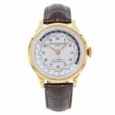 Baume et Mercier Capeland Worldtimer Beige Dial 18K Rose Gold Men's Watch 10107