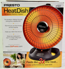 Presto Heat Dish Parabolic Electric Heater (Black Grill)