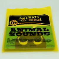 Wendy's Kids Meal Toy Book - Animal Sounds - Youth Fast Food Toy Reading