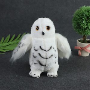 """Harry Potter Wizard Hedwig White Snowy Owl 8"""" Animal Plush Toy Decor Party Gift"""