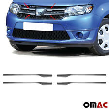Für Dacia Logan MCV 2013-2017 Chrom Kühlergrill Grill Leisten 4tlg Edelstahl
