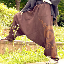 [TiKiTiKe] Hippie style Ethnic Hurricane One size woman's baggy pants (Brown)