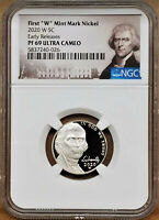 2020 FIRST W MINT PROOF NICKEL, NGC PF69UC EARLY RELEASES, PORTRAIT LABEL
