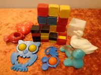 24 PC Convolute Baby Toy/Plastic/Plastic - Vintage - around 1970 - GDR