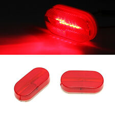 4x New Clearance/Marker Side Light w/Removable Lens RV Trailer Truck Camper Red