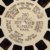 Viewmaster Reel Historic Plymouth Massachusetts Sawyers 280 3D Photos Pictures