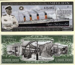 RMS Titanic Commemorative w/Cpt Smith Million Dollar Novelty Money