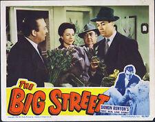 THE BIG STREET original 1942 lobby card movie poster AGNES MOOREHEAD/HENRY FONDA