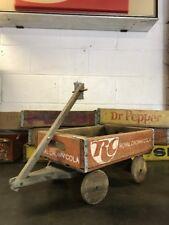 Vintage Royal Crown Coke Crate Mini Radio Flyer Wooden Cart Cola Pepsi Soda