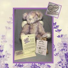 "Annette Funicello ""Hope� Lavender Mohair 16� Angel Bear - Original Box Coa #2673"
