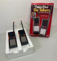 Vintage 1984 Fisher Price Sky Talkers, Untested Walkie Talkie Radios Vintage