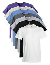 Hanes USA Nano-T Cotton T-Shirt BLACK WHITE BLUE GREY ARMY GREEN Tshirt