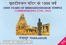 "RARE 2010 INDIA UNC SET 1000 & 5 RUPEE ""1000 YEARS OF BRIHADEESWARAR TEMPLE"""