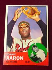 1963 Topps #46 TOMMIE AARON Milwaukee Braves NRMT (DC15)