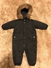 Unisexe Snowsuit Ski Suit BABY DIOR - 18 Months-nearly new with Fur Hood Trim