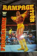 Vintage Rare WWF Wrestling Rampage Tour 1991 Programme Hulk Hogan WWE