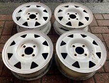 "Rare Smith Uk Steel Wheels Ford Fiesta 4x108 13""5.5J Et40 Original Condition"