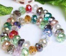 AAA 100PCS 4X6mm Multicolor Crystal Faceted Loose Beads AA+01