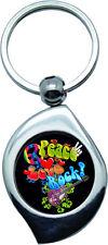 Porte clés - Peace and Love -  Rock 1