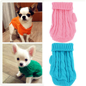 XXXS XXS Small Dog Clothes Knitted Sweater Pet Puppy Hoodie for yorkie maltese