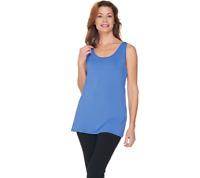 H By Halston Essentials Scoop Neck Knit Tank Size 2X HTHR CELERY Color