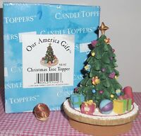 "3""Jar Candle Topper; The Christmas Tree Our America's gift - ne442 1999 in box"