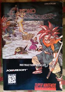 Official vintage SquareSoft Chrono Trigger instruction manual booklet SNES