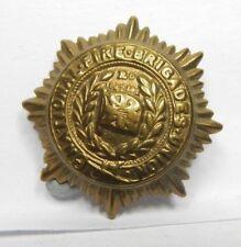 Vintage obsolete Fire Brigade Union Brass Collar Badge