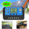 10-30A Solar Panel Battery Dual USB Charge Controller 24V 12V LCD Regulator Auto