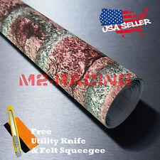"""*12""""x48"""" Red Brick Stone Textured Vinyl Background Wall Sticker Wallpaper BIR04"""