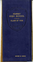 1936 Kearney Nebraska High School Diploma-RONAN Family-Class Roll Names