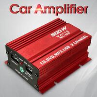 500W Mini Hi-Fi Car Power Amplifier 2-CH Stereo Audio MP3 Amp LCD USB