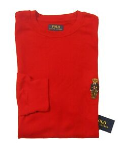 Polo Ralph Lauren Men's Polo Bear Waffle Knit Thermal Crew-Neck T-Shirt