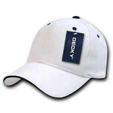 White & Black Sandwich Visor Bill Plain Blank Baseball Ball Cap Hat Caps Hats