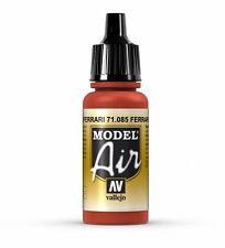 VALLEJO AIRBRUSH PAINT - MODEL AIR - FERRARI RED 17ML - 71.085