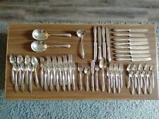 New ListingOneida Community Silver plate Patrician pattern 54 pieces very nice set preowned
