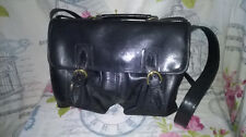 Black Hand-Made Leather Satchel by Wilsons Leathercrafters