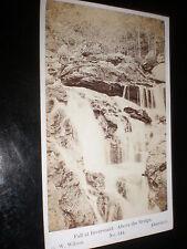 Old cdv photograph Inversnaid waterfall by G W Wilson Aberdeen c1870s