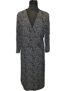 Hobbs Geometric Print Wrap Dress UK Size 14