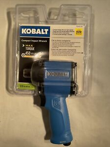 """👀💎 NEW KOBALT 0840781 1/2"""" COMPACT IMPACT WRENCH 90PSI 450 FT-LB 👀💎"""